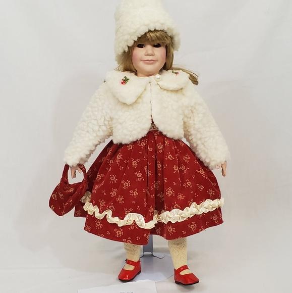 "Yoko Designs Other - Yoko Designs 18"" Porcelain Girl In Winter Dress"
